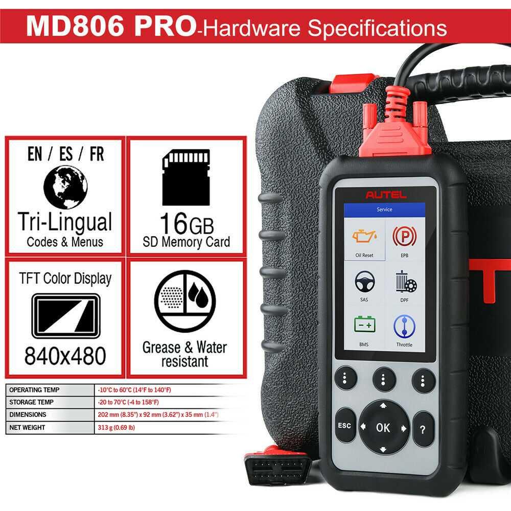 Autel MaxiDiag MD806 Pro Full System Diagnostic Tool