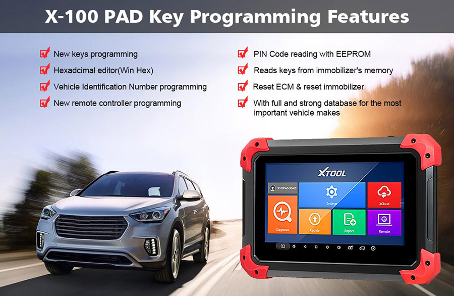 x100 pad key programming