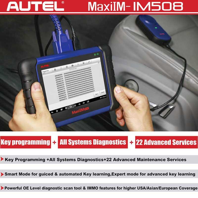 Original Autel MaxiIM IM508 ADVANCED IMMO & KEY PROGRAMMING Perfect  Replacment of AURO OtoSys IM100