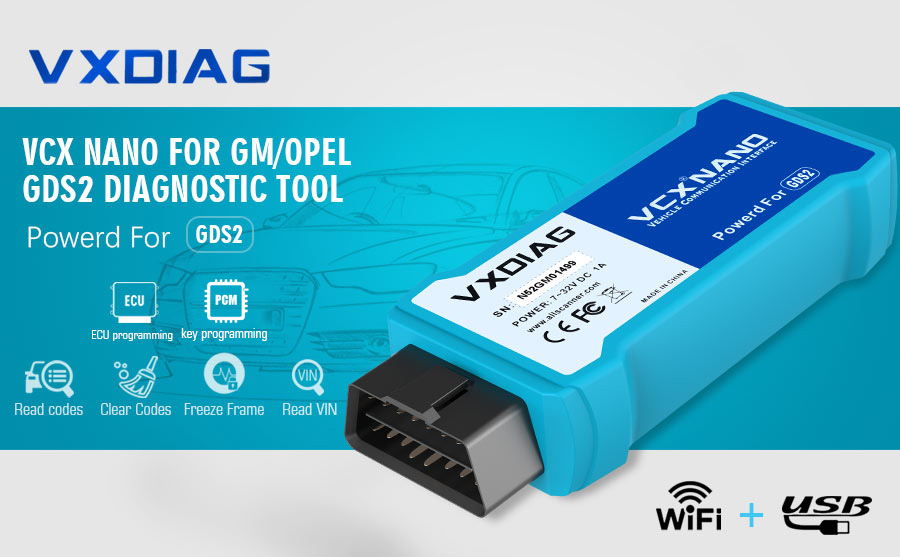 VXDiag VCX NANO for GM/OPEL with Wifi