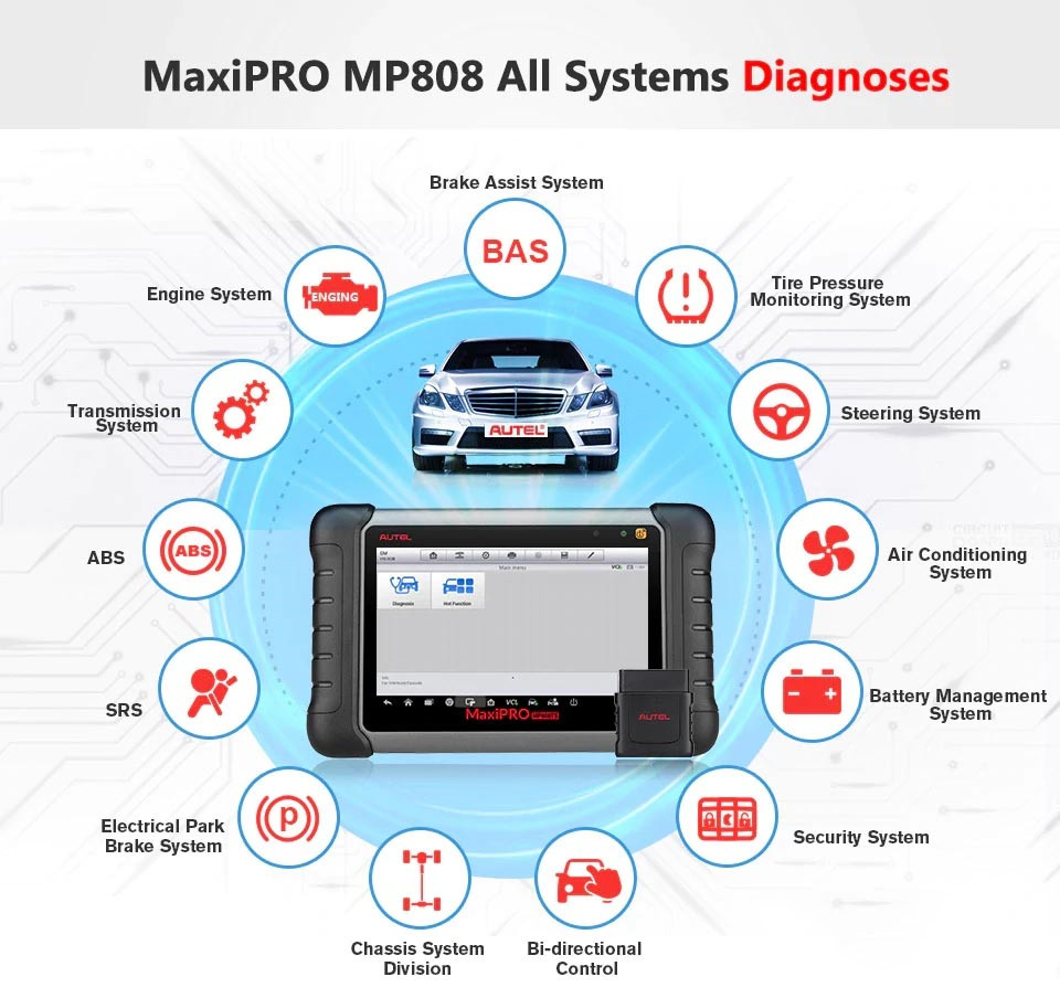Autel MaxiPRO MP808K diagnosis