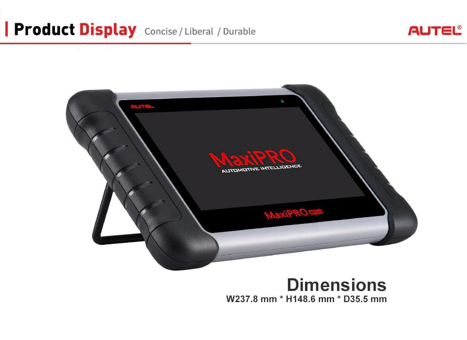Autel MaxiPRO MP808K display