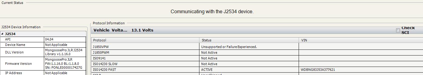JLR Mangoose SDD Pro Communication with J2534