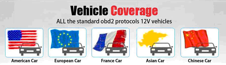 VIDENT iEasy200 Vehicle Coverage