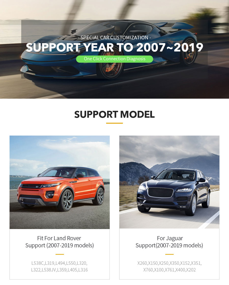 VXDIAG VCX SE For JLR Car List