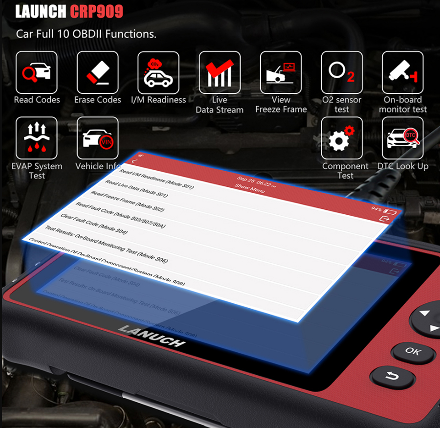 LAUNCH X431 CRP909 obd2 function