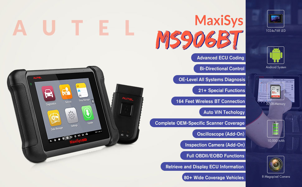 Autel MaxiSys MS906BT Features