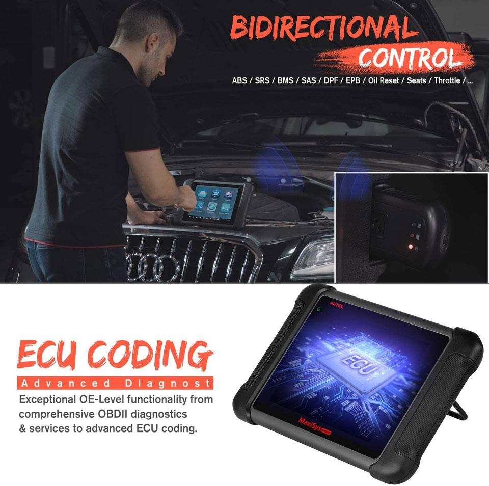 Autel MS906BT ecu coding functions