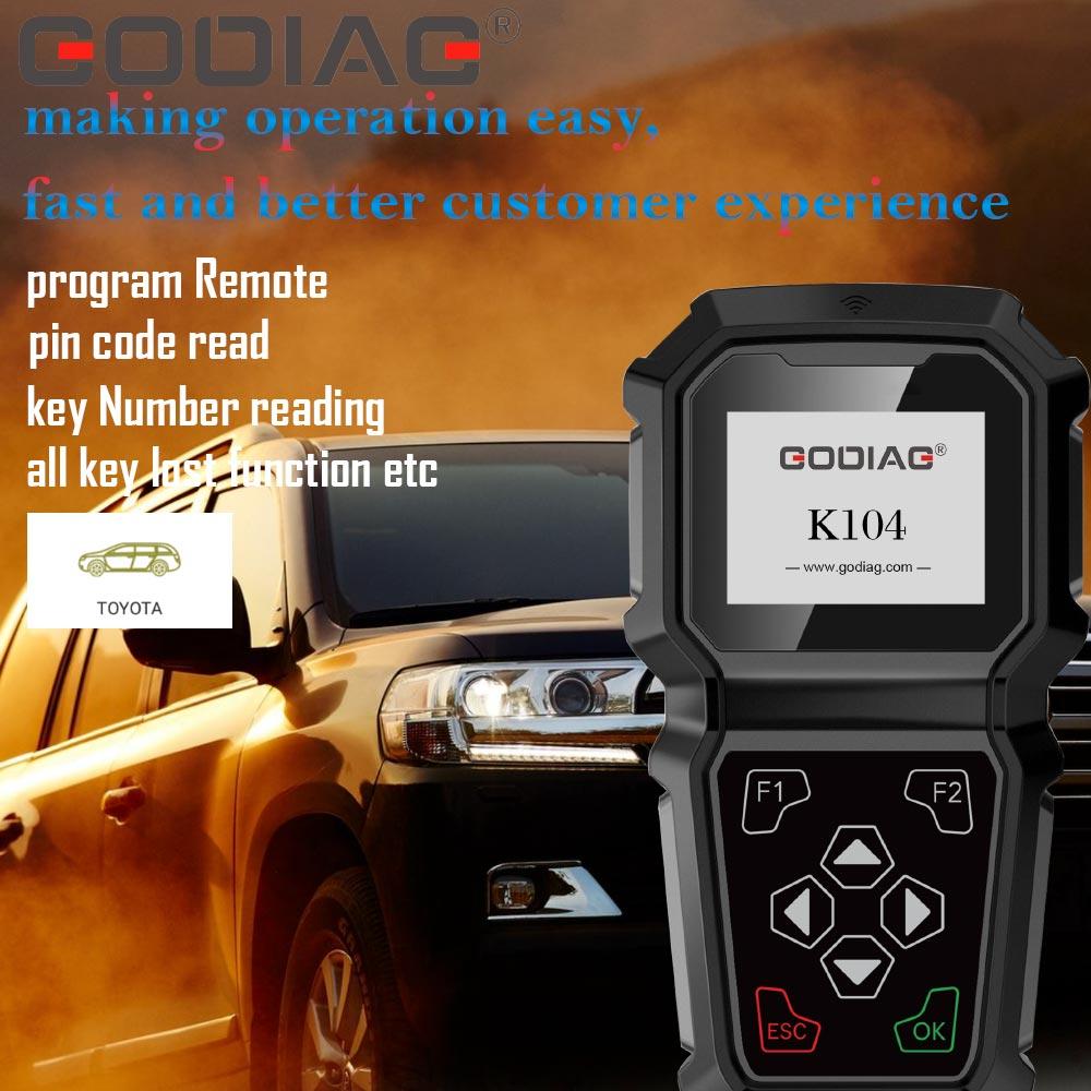 GODIAG K104 Toyota Hand-held Key Programmer