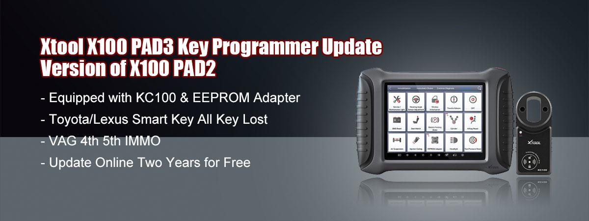 XTOOL X100 PAD 3 Key Programmer