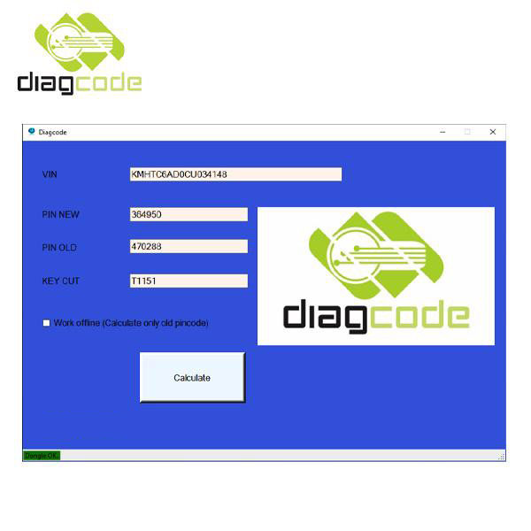 Diagcode for Hyundai and Kia Software Display