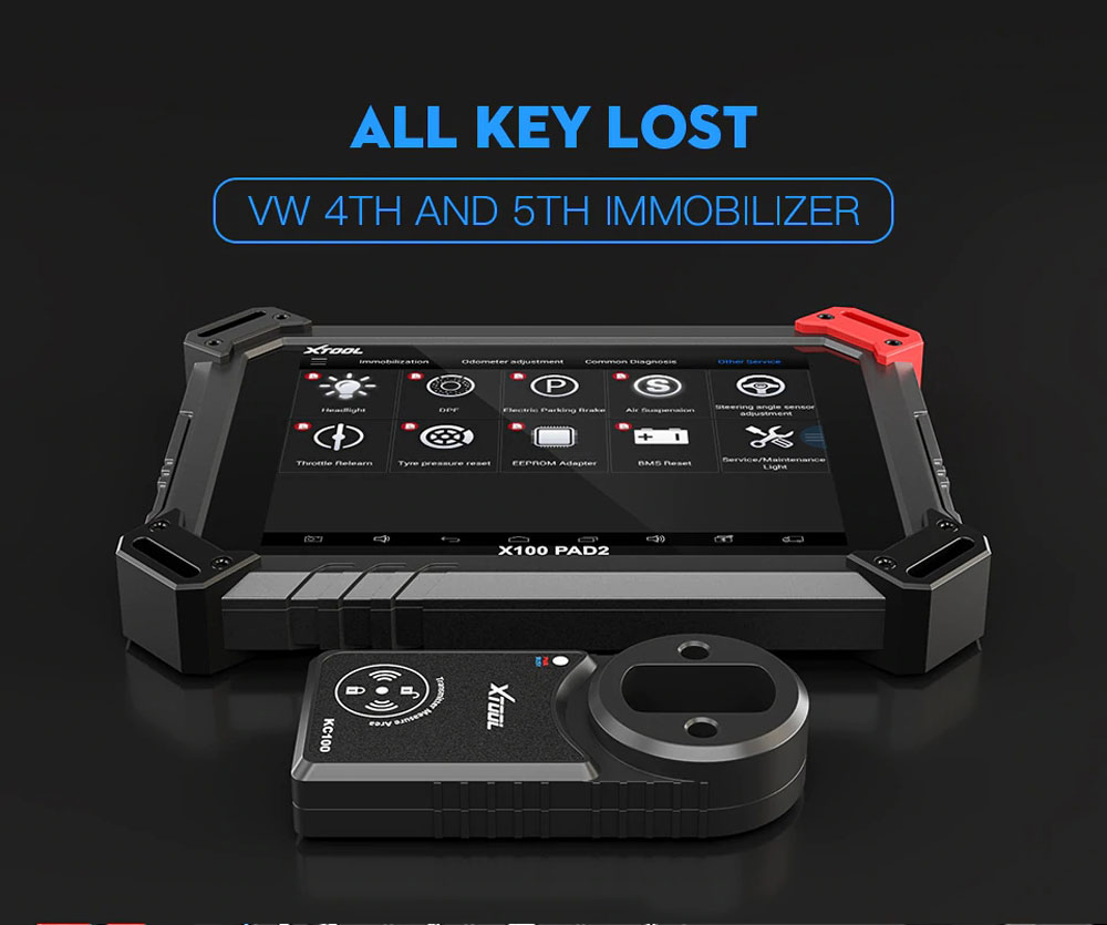 xtool x100 pad2 key programming functions