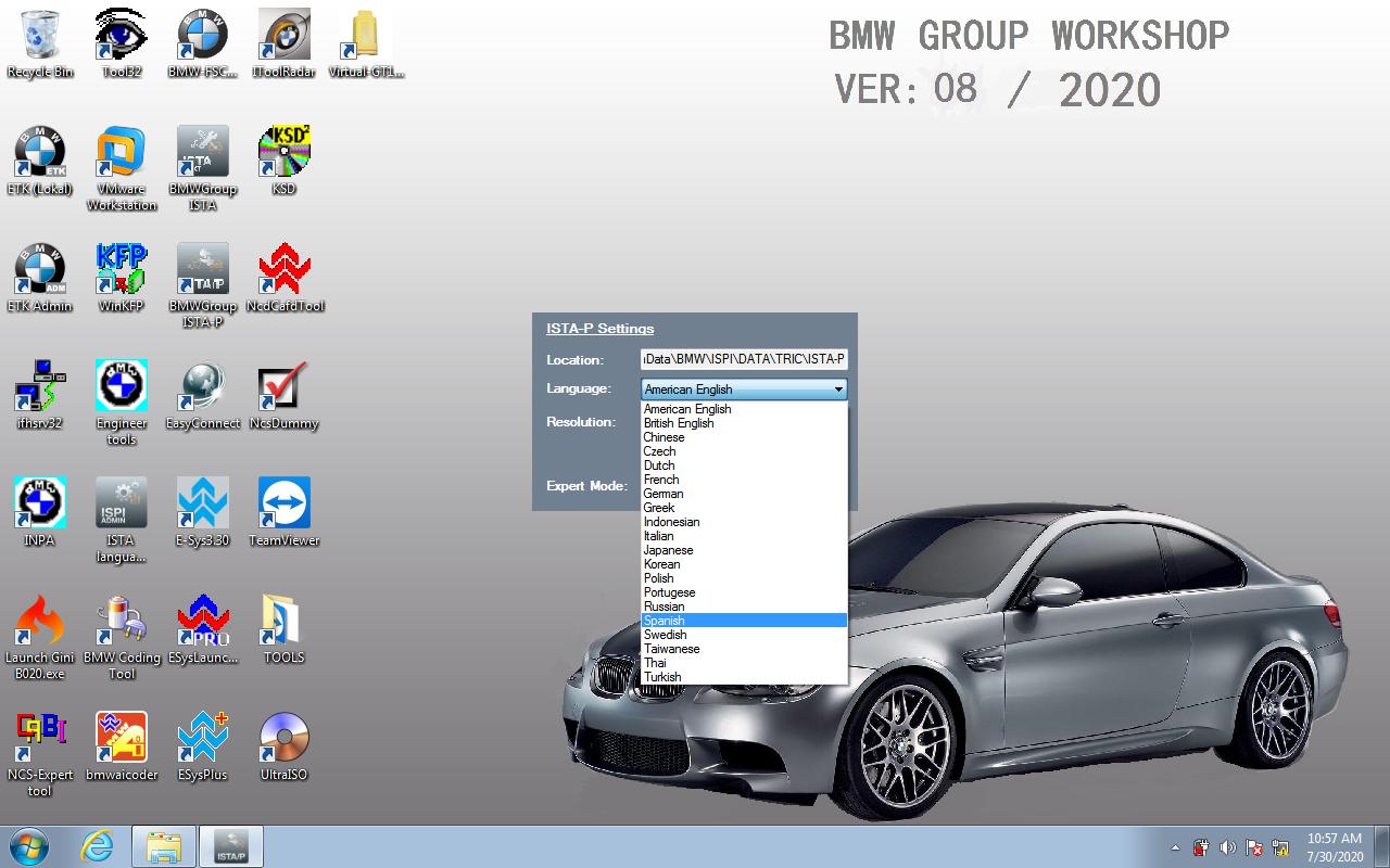 V2020.8 BMW ICOM Software ISTA-P Language