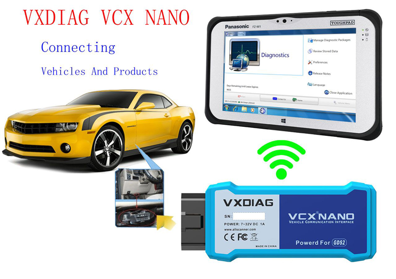 Vxdiag VCX Nano for GM/OPEL Wifi Conenction