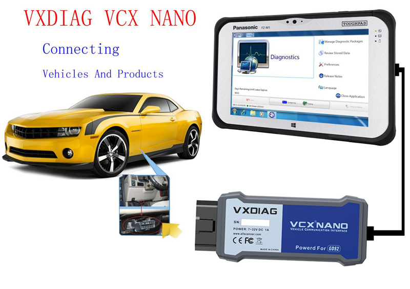 Vxdiag VCX Nano for GM/OPEL USB Conenction