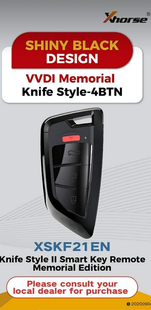 Xhorse XSKF21EN VVDI Memoeial Knife Style-4BTN