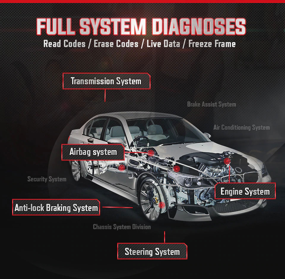 Autel MaxiCOM MK808 Full system diagnosis
