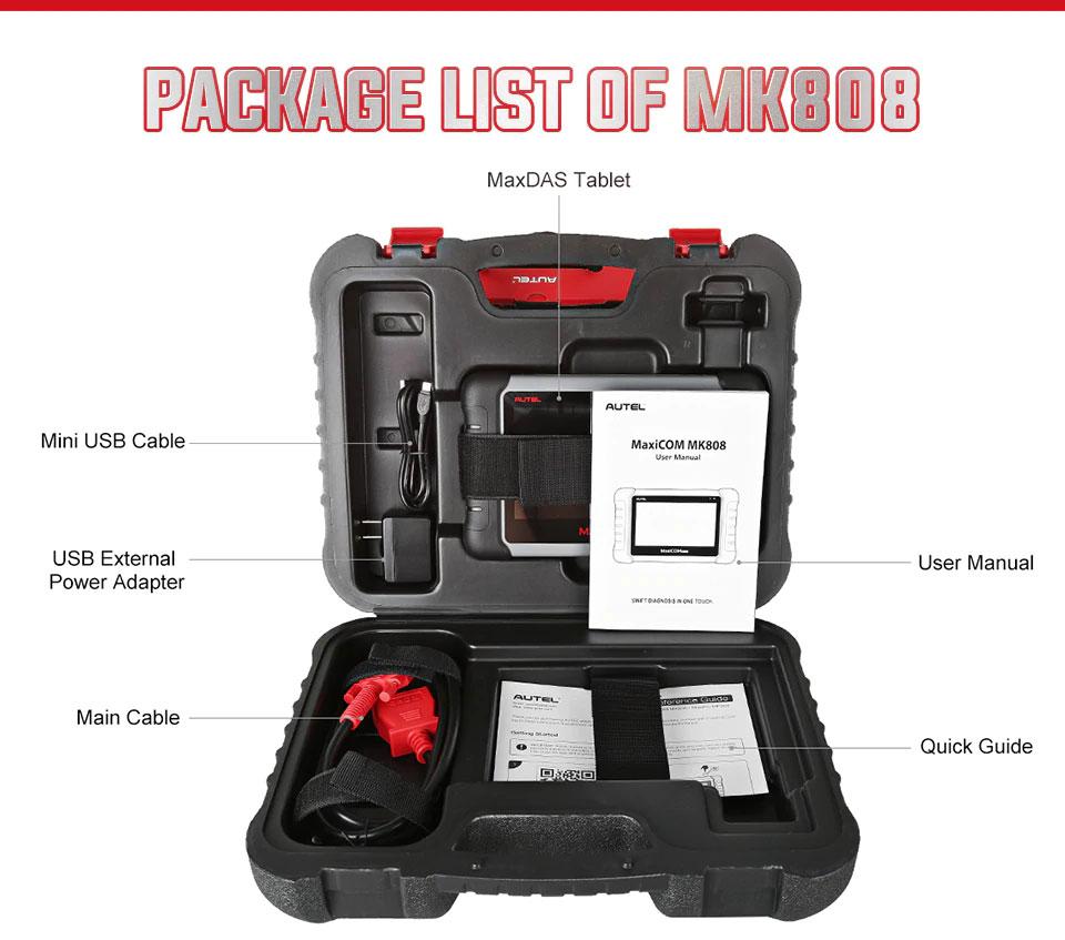 Autel MaxiCOM MK808 package