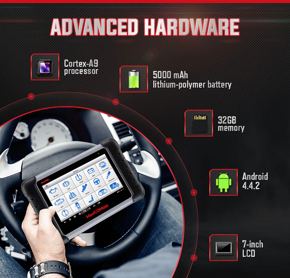 Autel MaxiCOM MK808 hardware
