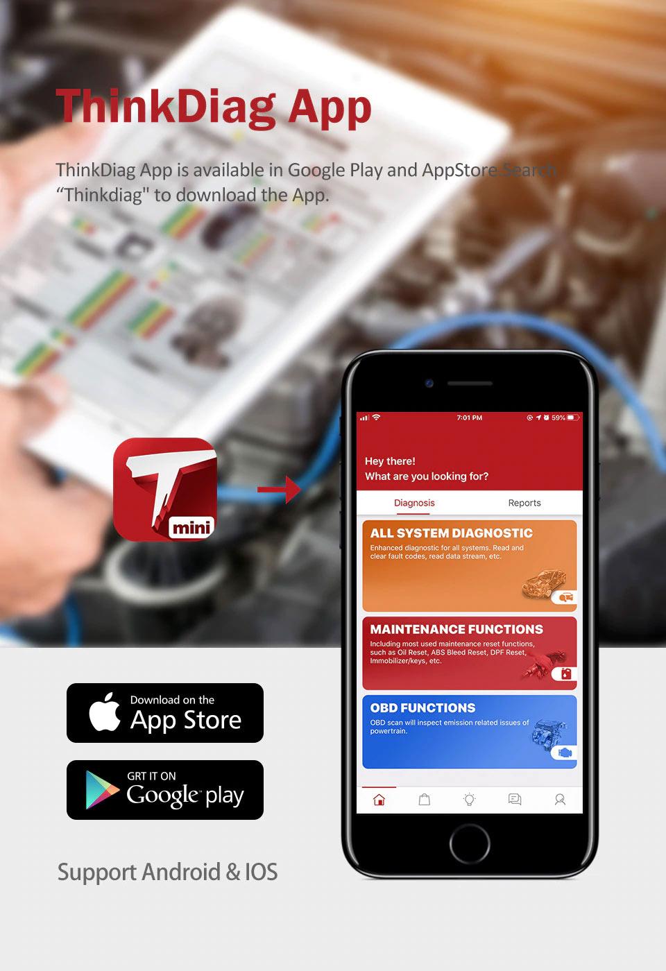 Launch ThinkCar Pro Thinkdiag Mini