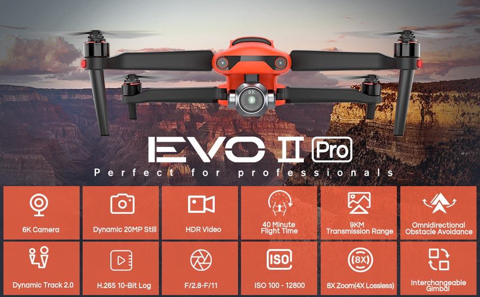 Autel Robotics EVO II Pro 6K Drone Rugged Bundle