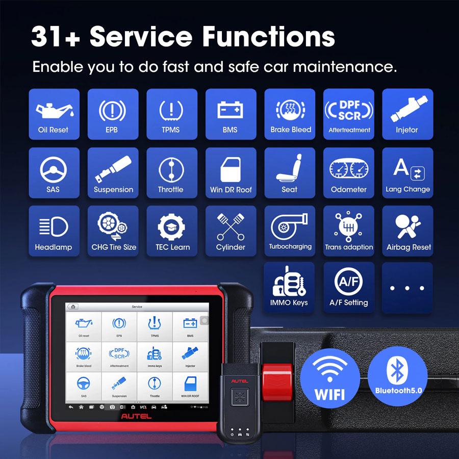 Autel MaxiCOM MK906BT service function