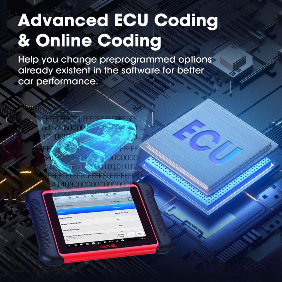 Autel MaxiCOM MK906BT ECU Coding function