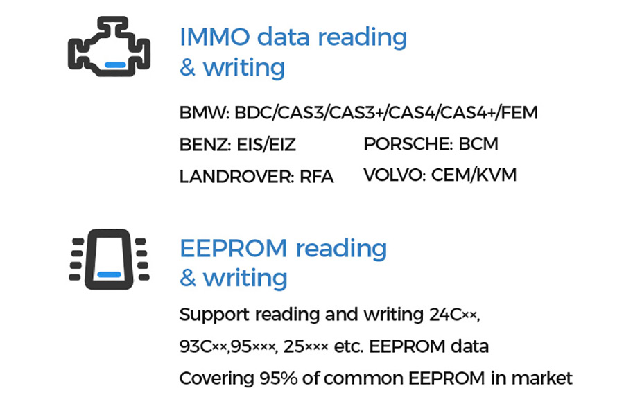 XHORSE MINI PROG immo data and eeprom reading and wirting