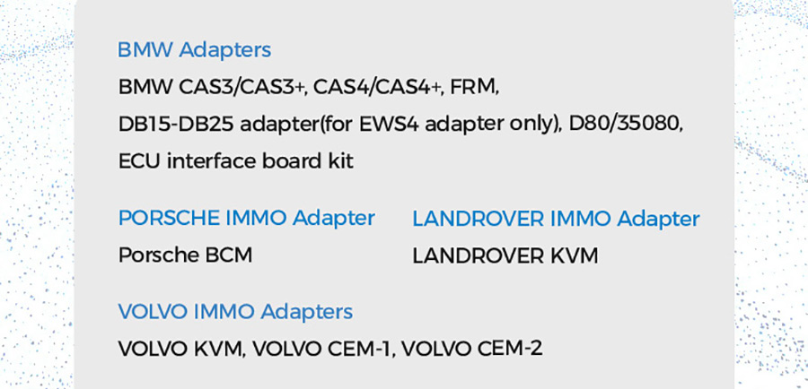 XHORSE MINI PROG adapters