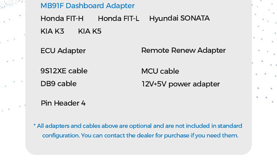 XHORSE MINI PROG dashboard adapter