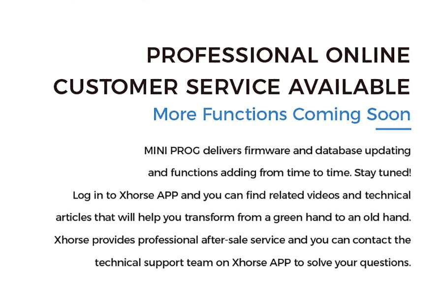 XHORSE MINI PROG Customer service