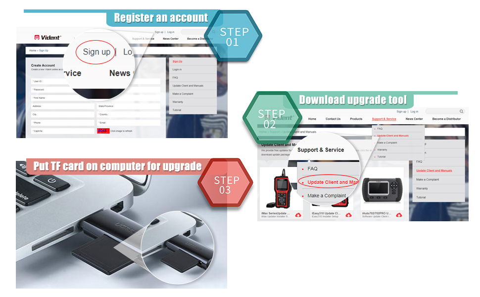 VIDENT iAuto 702 Pro Update Steps