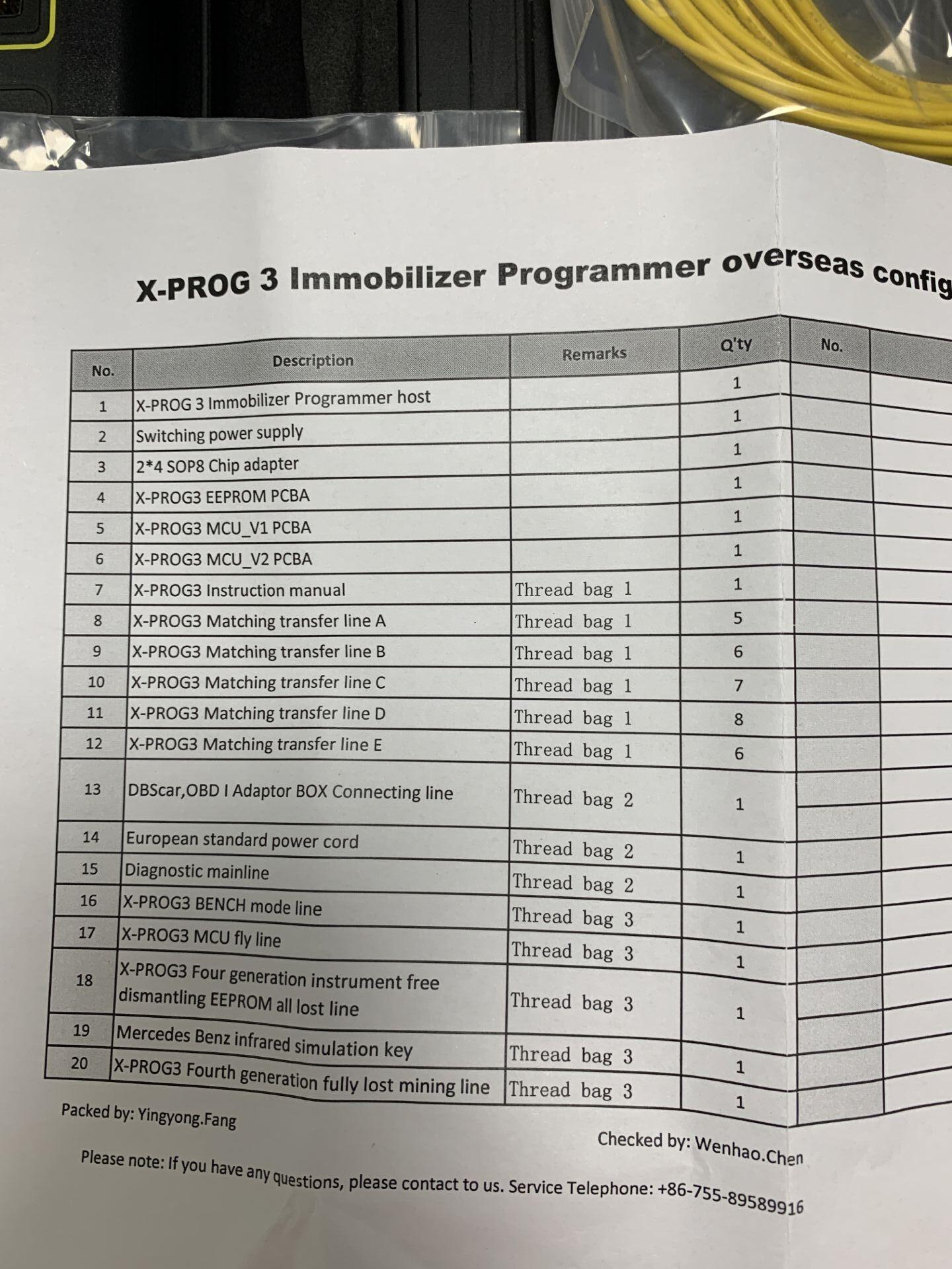 LAUNCH X-PROG 3 Package List