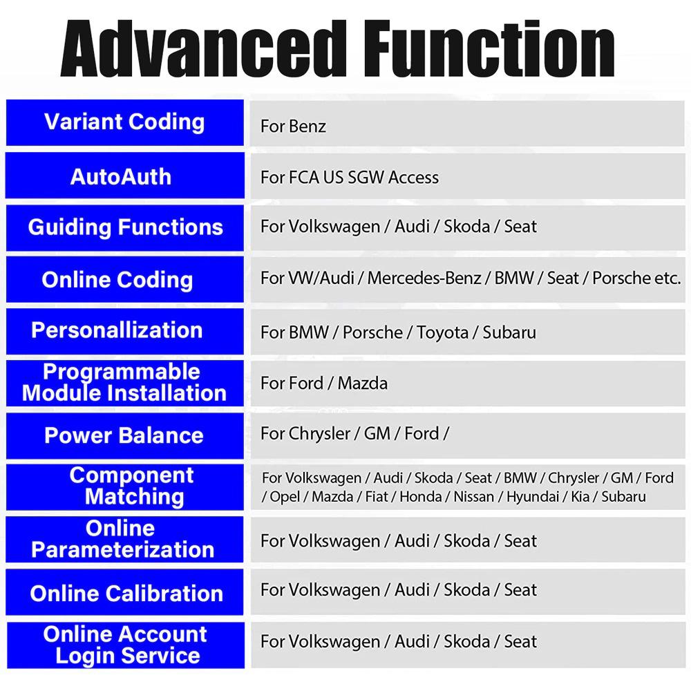 X431 PAD 7 ADVANCED FUNCTIONS
