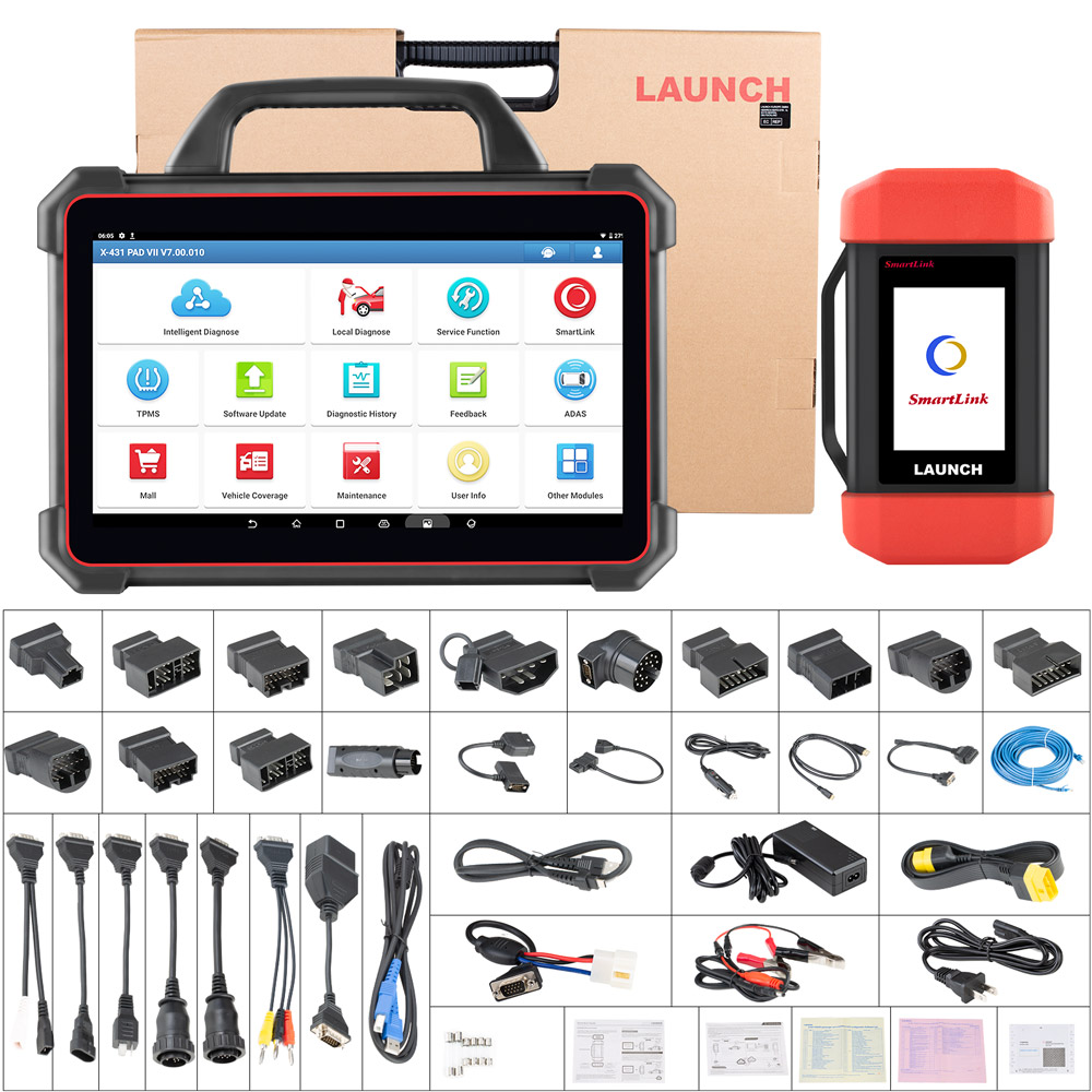 Launch X431 PAD VII Full Package List