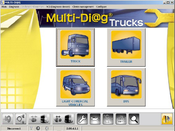 multi-diag bluetooth truck heavy software 2